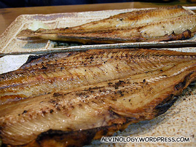 Some grilled fish which Mark and Meiyen are crazy about