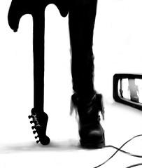ke se yo (fusionfria) Tags: españa art blanco television illustration digital photoshop painting tv drawing guitarra negro cable dibujo pintura cantabria grafica bota torrelavega tableta mendozak