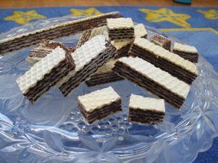 Home made chocolate wafers