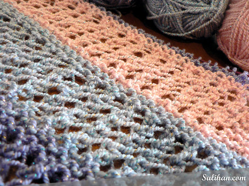 Wisp Knitted Shawl WIP