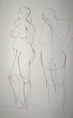 Ink Gesture Drawings - Female Model