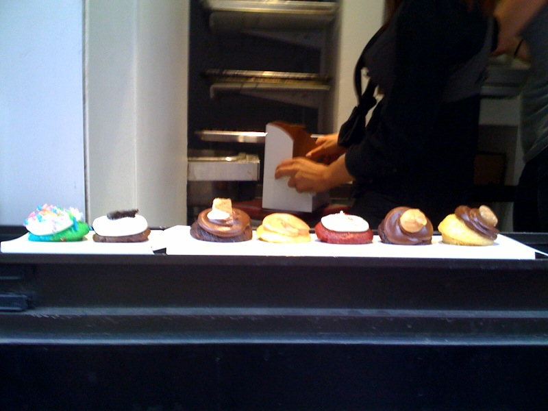 Booming mini cupcake window in SoHo