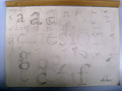my sketches for the De Aetna roman