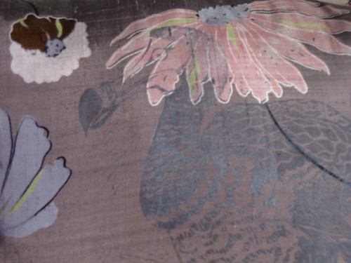 Dodo on silk detail