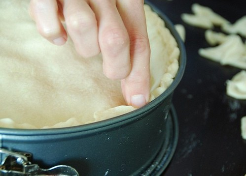 pinching dough