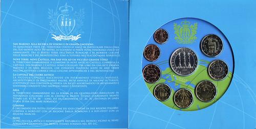 interior caja. Monedas FDC