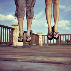 flip flop hop (b*wag) Tags: friends sky feet clouds jump legs holly flipflops janine sowhat 2009yip 3652009 yeahanotherjumpingshot iloveloveloveem