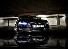 Audi TT - reflection (why77-audipassion) Tags: paris reflection sexy car night photoshop nikon parking sigma tt asa audi 1020 topaz d90 ar1 20tfsi why77 audipassion