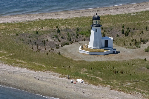 Prudence Island Lighthouse, Rhode Island - aerial