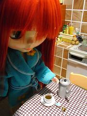 When Hal gets so sleepy, coffee is the savior  {195/365}