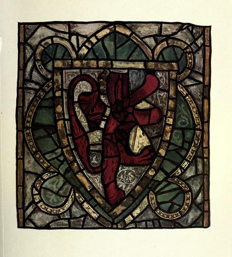 008- Vitral heraldico- triforio de la nave de la catedral de York principios siblo XIV