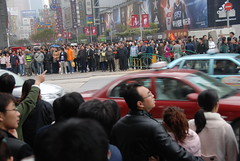 Organized Chaos...or maybe not (Let Ideas Compete) Tags: china street city travel shanghai traffic crows horde crowds crowded hordes nanjingstreet china1march2009