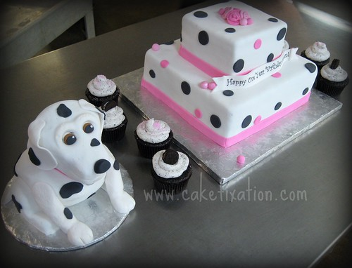 Dalmation Puppy Cake