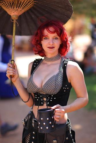 Michelle Bikini Chainmail Redhead Waist High Portrait AZ Ren Fest