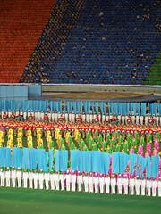 Performers ready to begin the Arirang Perfomance (Ray Cunningham) Tags: kim north games korea communism mass socialism pyongyang corée arirang juche ilsung 조선민주주의인민공화국 릉라도 阿里朗 raycunningham 5월1일경기장 rungrado raymondcunningham zaruka raymondkcunninghamjr northkoreanphotography raycunninghamnorthkoreanphotography dprkphotography