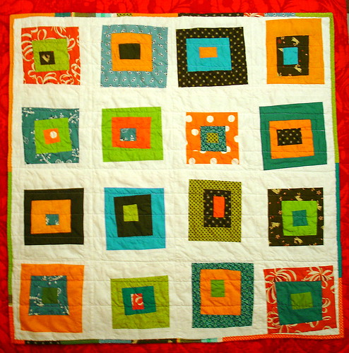 Denyse Schmidt style baby quilt