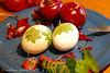 Ostereier natürlich färben (Soupflower's Blog) Tags: easter nikon natural skin onion imadethis ostern dye farbe ei zwiebel eastereggs eier osterei natürlich ostereier d80 färben flowersoup soupflower naturfarben zwiebelschalen