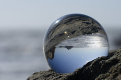 205.  looking through the crystal ball (suz or sooze) Tags: sanfrancisco pacificocean refraction oceanbeach april crystalball sealrock project365 explored assignment52132009 suzorsooze