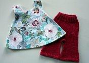 Fresh Spring Set - swing top and knit flared capris - medium