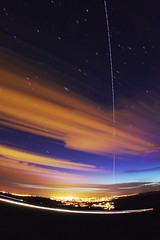 ISS_Shuttle093 (baskill) Tags: uk light sunset england sky orange station stars brighton space international pollution shuttle taurus iss hyades pleiade