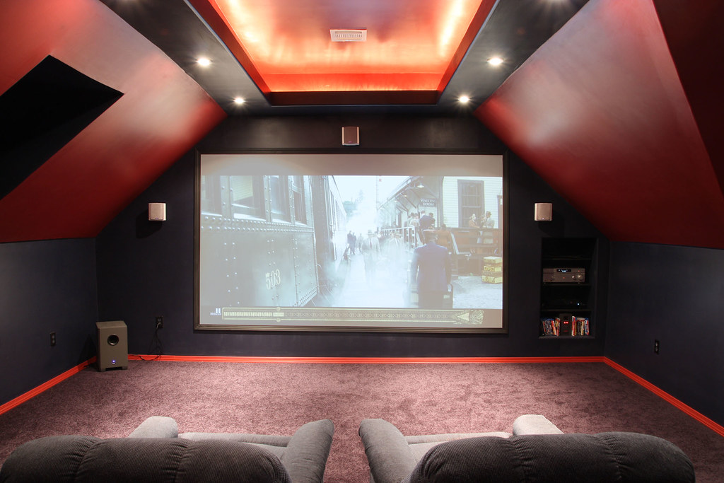 Outstanding Attic Theater Room 1024 x 683 · 293 kB · jpeg