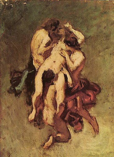 Femme damnée (huile, Louvre) Anonyme attribué à Octave Tassaert (1800-1874) by you.