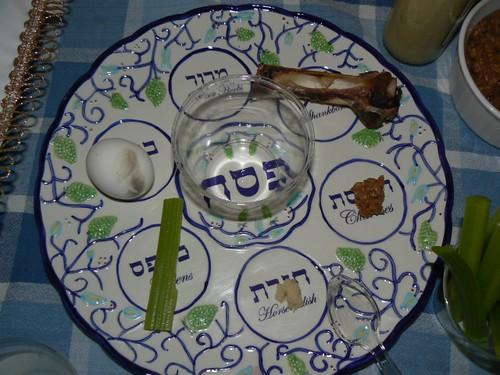 Seder plate all set