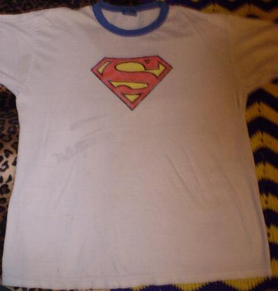 white Superman t-shirt #1