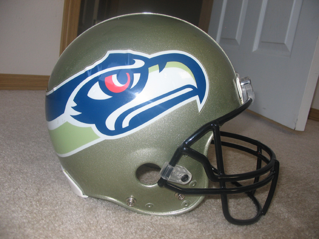 seattle seahawks uniform history page