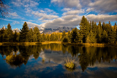 The Waiting Game (idashum) Tags: autumn sky cloud mountain mountains reflection tree fall nature pine clouds season landscape nationalpark pond nikon bravo d70s scenic jackson beaver explore alpine vista wyoming tetons range grandteton breathtaking mountainrange grandtetonnationalpark schwabacherlanding explored amazingcapture superaplus aplusphoto frhwofavs breathtakinggoldaward superamazingcaptureaward