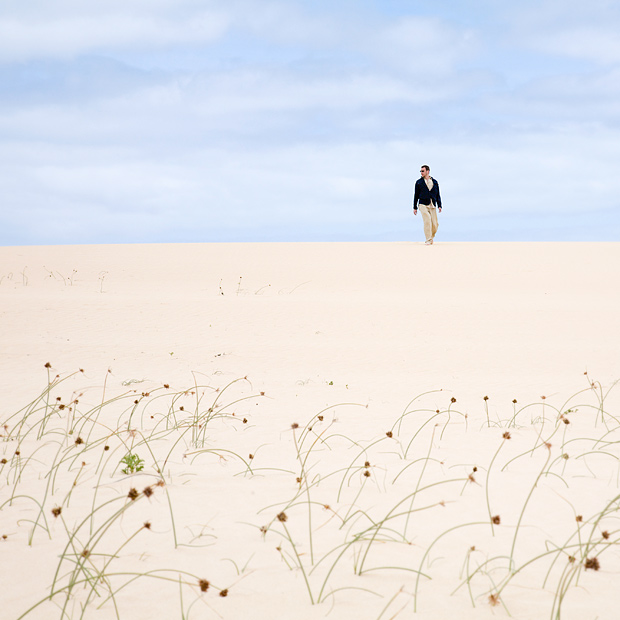 walking in dunes