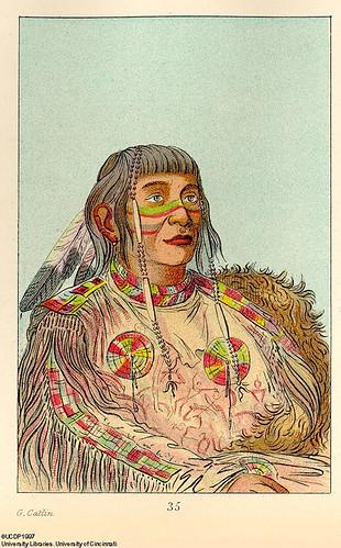 012- Jefe de los Ojibwa de las praderas-George Catlin 1841