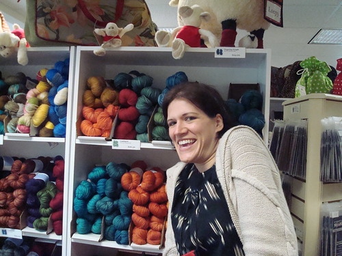Alyson and her yarn!
