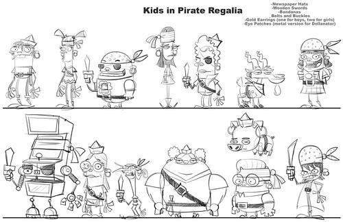 Kids in Pirate Regalia