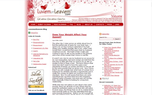 Luvem Or Leavem Relationship Blog