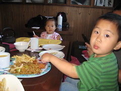 The kids loved their dinner at Tokyo Table