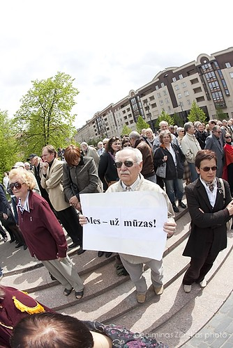 Lithuanian artists protest action