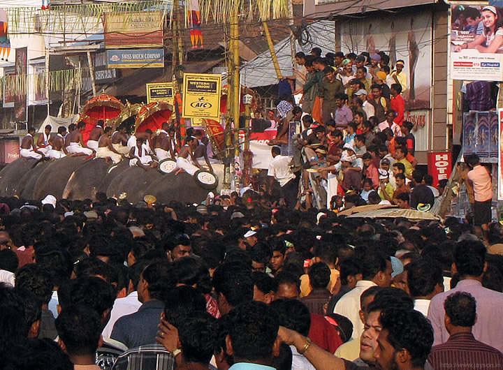thrissur pooram - End of Kudamaattam