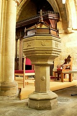 Perpendicular style font. All Saints - Middleton Cheney