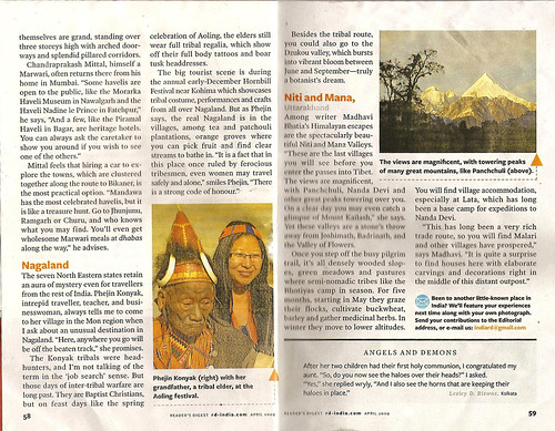 Readers Digest April 2009 of Nagaland