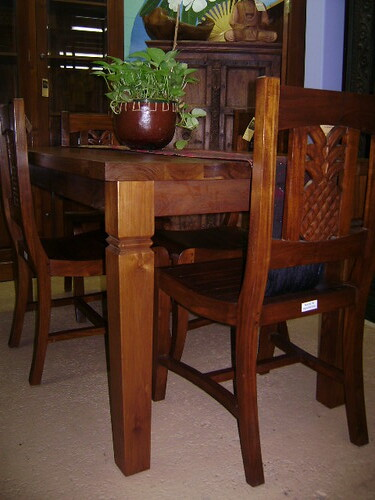 Teak table chairs antique card tables