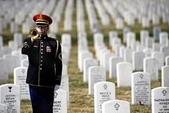 Taps, Bugle, Army, Military Funeral, Arlington National Cemetery (Beverly & Pack) Tags: life wallpaper afghanistan arlington lost soldier army us war uniform vet background military iraq salute formal free honor class medical taps funeral va creativecommons download terror burial warrior deborah arlingtonnationalcemetery horn veteran admiral chairman troops armedforces mullen publicdomain bugle colorguard vets trumphet bugler admmikemullen mcneeley jointchiefs jointstaff