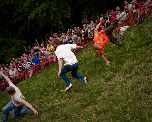 Cheese Rolling - Staying on your feet..