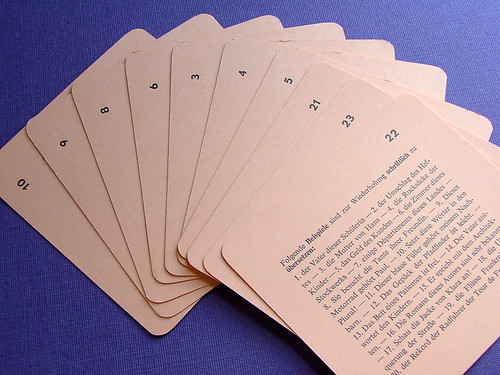 Vintage German-French Flash Cards