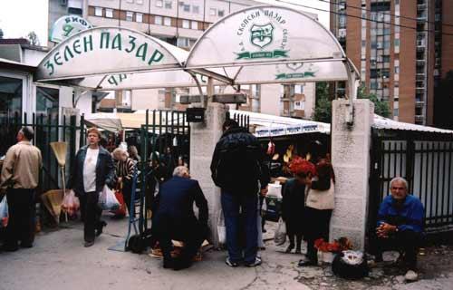 Entrada do Bazar Zelen, Skopje, Macedónia