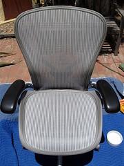 6. Reassembled Chair (jjldickinson) Tags: chair furniture seat replacement repair howto instructions aeron hermanmiller vivitarvivicam6326