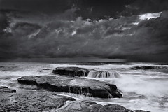 The Mashup (Tim Donnelly (TimboDon)) Tags: ocean sea blackandwhite bw seascape australia nsw cokin bungan
