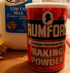 milk and baking powder