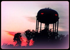 Dusk in the Jungle, Explore # 409, Thank you! (joehall45) Tags: trees sunset tn dusk watertower clarksville