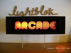 """arcade"" lightblok (thesyemism) Tags: wood signs sign matt glow interior crafts fixtures handcrafted crafty custom deco signboard lightbox mdf minilights blokon signbox lightblok signlamp lampboxhandmade"